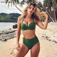 € 9.85 45% de DESCUENTO|Conjunto de Bikini de cintura alta Sexy de TeLaura para mujer traje de baño Push Up 2019 Bikini de mujer Halter Top traje de baño ropa de playa Biquini-in Conjunto de bikini from Deportes y entretenimiento on Aliexpress.com | Alibaba Group