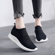 US $15.79 31% OFF|Women Sneakers 2019 Fashion Mesh Women Casual Shoes Flats Platform Spring Summer Fitness shoes Breathable Soft Black Women Shoes-in Women