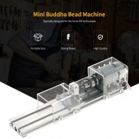 Профессиональный 100 Вт мини токарный станок DIY деревообрабатывающий Будда жемчужный токарный станок шлифовальный полировальный станок бусинки дрель роторный инструмент on AliExpress