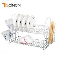 S образный сушилка комплект 2 уровня покрытием Утюг PP плиты посуда чашки стойки с подносом PP дренаж лоток стойка для посуды Кухня полки купить на AliExpress