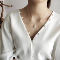 248.48 руб. 20% СКИДКА|AOMU 925 стерлингового серебра барокко жемчужные подвески ожерелье с простым дизайном дикое элегантное изящное ожерелье для женщин ювелирные украшения-in Ожерелья с подвеской from Украшения и аксессуары on Aliexpress.com | Alibaba Group