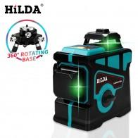 3656.64 руб. 49% СКИДКА|HILDA лазерный уровень 12 линий 3D уровень самонивелирующийся 360 горизонтальный и вертикальный крест супер мощный зеленый лазерный уровень-in Лазерные уровни from Орудия on Aliexpress.com | Alibaba Group