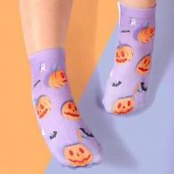Хэллоуин носки с узором тыквы для девочек