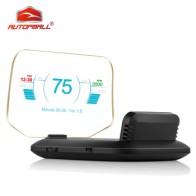 Новейший дисплей с головкой OBD Автомобильная электроника HUD Дисплей автомобильные спидометры C1 превышение скорости предупреждение OBD2 + GPS д...