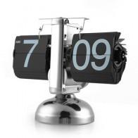 Часы с откидной крышкой в стиле ретро, цифровые настольные часы с автоматической подставкой, кварцевые часы с внутренним механизмом - Крутые будильники