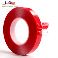 259.91 руб. 28% СКИДКА|LUDUO 3 м красный двусторонняя клейкая лента Высокая прочность акриловый гель прозрачный без следов Стикеры для авто Интерьер фиксированной купить на AliExpress