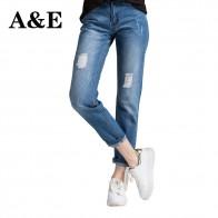 1290.81 руб. 53% СКИДКА|Alice & Elmer Рваные Джинсы бойфренда для женщин джинсы брюки для девочек для женщин со средней талией дырочки джинсы женские брюки-in Джинсы from Женская одежда on Aliexpress.com | Alibaba Group