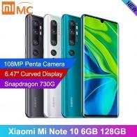 27362.74руб. 20% СКИДКА|В наличии, глобальная версия, Xiaomi Mi Note 10, 6 ГБ, 128 ГБ, 6,47 дюйма, изогнутый дисплей, камера 730 МП, мобильный телефон Snapdragon G on AliExpress