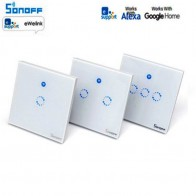 € 11.72 10% de réduction|Commutateur intelligent Sonoff T1 1 3Gang EU UK WiFi & RF 86 Type commutateur intelligent de lumière tactile murale Module domotique intelligent télécommande-in Home Automation Modules from Electronique on Aliexpress.com | Alibaba Group