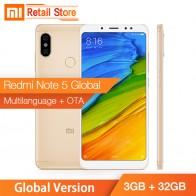 10912.69 руб. |Глобальная версия Xiaomi Redmi Note 5 3 GB 32 GB Snapdragon 636 Octa Core 5,99 полный Экран 12MP 5MP двойной AI Камера 4000 mAh металлический корпус-in Мобильные телефоны from Мобильные телефоны и телекоммуникации on Aliexpress.com | Alibaba Group