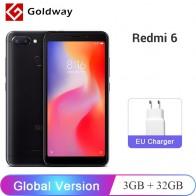 6799.96 руб. |Глобальная версия Xiaomi Redmi 6 3 ГБ ОЗУ 32 Гб ПЗУ смартфон Helio P22 Восьмиядерный 5,45