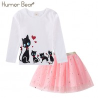 US $4.14 40% OFF|Humor Bear NEW Autumn Baby Girl Clothes Girls Clothing Sets Cartoon Sequins Cat Long Sleeve+Stars Skirt Casual 2PCS Girls Suits-in Clothing Sets from Mother & Kids on Aliexpress.com | Alibaba Group