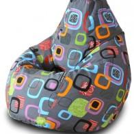 Купить DreamBag Кресло-мешок Мумбо XL серый жаккард по низкой цене с доставкой из маркетплейса Беру