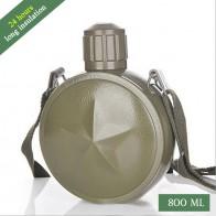 800 мл Вакуумный изоляционный чайник из нержавеющей стали портативная наружная дорожная бутылка для воды военный Вентилятор чайник с ремешком термос