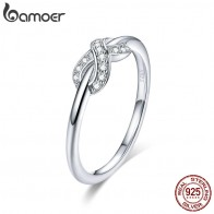US $4.99 30% OFF|BAMOER Hot sale 925 Sterling Silver Infinity Love Infinite Clear CZ Rings for Women Engagement Wedding Jewelry SCR494-in Wedding Bands from Jewelry & Accessories on Aliexpress.com | Alibaba Group