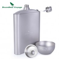 US $32.94 20% OFF|Boundless Voyage Outdoor Titanium Hip Flask Cup Set with Funnel Camping Picnic Pocket Whiskey Wine Mug Sake Set 8.5oz/250ml-in Outdoor Tablewares from Sports & Entertainment on Aliexpress.com | Alibaba Group