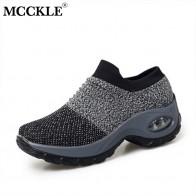 Mcckle mulheres 2020 tênis casuais mulher apartamentos plataforma casual primavera sapatos vulcanizados moda feminina deslizamento em caminhada senhoras