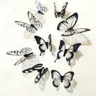 111.17 руб. 18% СКИДКА|18 шт. черный и белый 3D бабочка настенные художественные наклейки настенные наклейки украшения дома 2017ing-in Настенные наклейки from Дом и сад on Aliexpress.com | Alibaba Group