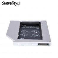 587.87 руб. 20% СКИДКА|Sunvalley 12,7 мм Универсальный алюминиевый сплав 2nd HDD Caddy IDE для SATA 2,5