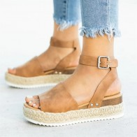 US $7.43 32% OFF|Women Sandals Plus Size Wedges Shoes For Women High Heels Sandals Summer Shoes 2019 Flip Flop Chaussures Femme Platform Sandals on AliExpress
