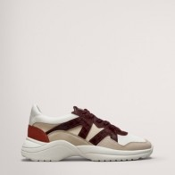 COMBINED TRAINERS WITH BURGUNDY PIECES - Women -  Massimo Dutti