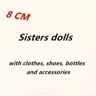 Горячая Распродажа Большой 8 см девочка сестра куклы в одежде обувь бутылки аксессуары детские игрушки День рождения Рождественский подарок случайная отправка 3 20 шт. купить на AliExpress