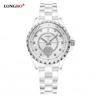 751.61 руб. 49% СКИДКА|Longbo 2018 новые модные женские часы Роскошные повседневные водонепроницаемые кварцевые керамические часы женские наручные часы подарки женские 80027-in Женские часы from Ручные часы on Aliexpress.com | Alibaba Group