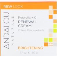 Andalou Naturals, Восстанавливающий крем, пробиотик + витамин C, улучшающий цвет лица, 1,7 жидкой унции (50 мл)