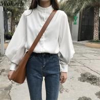 759.68 руб. 13% СКИДКА|Woherb женская блузка винтажные женские летние рубашки с длинными рукавами Корейская белая блуза Топ Blusas Mujer De Moda 2019 20179-in Блузки и рубашки from Женская одежда on Aliexpress.com | Alibaba Group