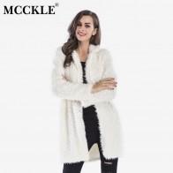1043.36 руб. 37% СКИДКА|MCCKLE/для женщин пушистый искусственный мех длинное пальто 2018 осень зима женский с длинным рукавом теплая верхняя одежда дамы плюшевые повседн-in Искусственный мех from Женская одежда on Aliexpress.com | Alibaba Group