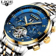 US $37.99 80% OFF|Relogio Masculino LIGE Mens Watches Top Brand Luxury Automatic Mechanical Watch Men Full Steel Business Waterproof Sport Watches-in Mechanical Watches from Watches on Aliexpress.com | Alibaba Group
