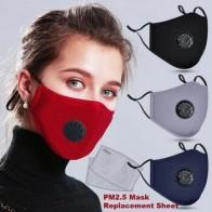 Анти PM2.5 дыхательная маска хлопок дымка клапан Анти-пыль рот маска фильтр с активированным углем респиратор рот Муфельная маска