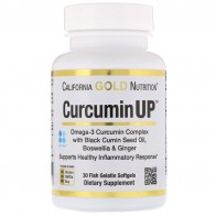 California Gold Nutrition, CurcuminUP, Omega-3 Curcumin Complex, Inflammation Support, 30 Softgels