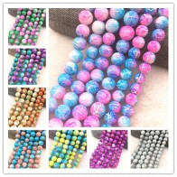 US $0.48 22% OFF|Wholesale 4/6/8/10mm Glass Beads Round Loose Spacer Beads Pattern For Jewelry Making DIY Bracelet Necklace-in Beads from Jewelry & Accessories on Aliexpress.com | Alibaba Group