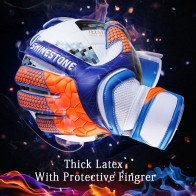 Shinestone Kids Adults Size Soccer Goalkeeper Gloves Professional Thick Latex Soccer Goalie Gloves With Finger Protection-in Goalie Gloves from Sports & Entertainment on AliExpress