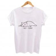 321.73 руб. 40% СКИДКА|Не сегодня Милая женская футболка с принтом кота Повседневная забавная футболка для Леди Девушка Топ Футболка хипстер женская одежда-in Футболки from Женская одежда on Aliexpress.com | Alibaba Group