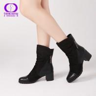 2201.7 руб. 45% СКИДКА|AIMEIGAO/Новое поступление; женские ботильоны на высоком каблуке; женские замшевые ботинки; короткие плюшевые зимние ботинки черного цвета на квадратном каблуке с двойной молнией-in Ботильоны from Туфли on Aliexpress.com | Alibaba Group