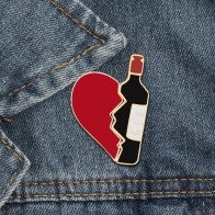 US $0.58 41% OFF|2pcs/set Broken Heart Wine Bottle Enamel Pins Fashion Love Brooch for Lover Denim Jackets Metal Badge Pin Backpack Jewelry Gifts-in Brooches from Jewelry & Accessories on Aliexpress.com | Alibaba Group