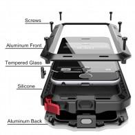 662.66 руб. 25% СКИДКА|Роскошные панцири жизни шок Dropproof противоударный металлический алюминий + Силиконовые чехол для iPhone X 5 5S SE 6 S 7 8 плюс Защитная крышка купить на AliExpress