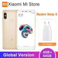 9735.34 руб. |Глобальная версия Xiaomi Redmi Note 5 4 ГБ ОЗУ 64 Гб ПЗУ Смартфон Snapdragon 636 Восьмиядерный 5,99
