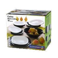Luminarc Carine Black&White Столовый сервиз 19 прд.  N1491 - Сервизы
