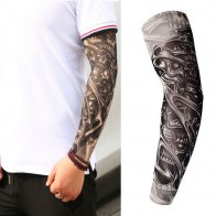 66.07 руб. 26% СКИДКА|Фальшивая, временная татуировка рукава татуировки Полный Длинный слипоны Татуировка