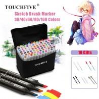 620.02 руб. 49% СКИДКА|TOUCHFIVE 30/40/60/80/168 Цвет искусство маркеры на спиртовой основе эскиз двойной маркеры щеток для рисования Manga товары для рукоделия ручки купить на AliExpress