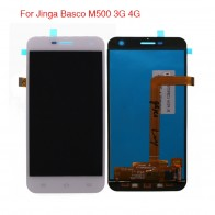 1228.58 руб. 15% СКИДКА|Высокое качество для телефона Jinga Basco M500 3g 4G ЖК дисплей Дисплей Сенсорный экран дигитайзер в сборе с бесплатными инструментами купить на AliExpress