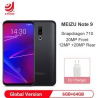 """Глобальная версия Meizu 16 6 Гб RAM 64 Гб ROM Snapdragon 710 смартфон 6,0 """"FHD экран 12 МП 20 Мп двойная задняя камера 20 МП фронтальная камера"""