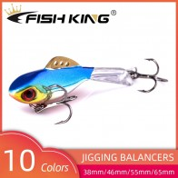 FISH KING Winter Ice Fishing Lure Balancer 3D Eyes Jig Bait Hard Lure Jigging Balancers Fishing Bait For Catching Perch and Pike