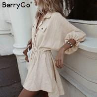 1039.06 руб. 47% СКИДКА|BerryGo льняные платья женское платье рубашка с длинным рукавом элегантное женское платье на пуговицах винтажное Летнее мини платье повседневное-in Платья from Женская одежда on Aliexpress.com | Alibaba Group