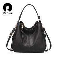 US $24.92 46% OFF|REALER shoulder bag women designer handbag high quality female Hobo bag tote soft artificial leather Large crossbody bags ladies-in Shoulder Bags from Luggage & Bags on Aliexpress.com | Alibaba Group