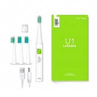 US $11.99 51% OFF|LANSUNG Ultrasonic Sonic Electric Toothbrush USB Charge Rechargeable Tooth Brushes With 4 Pcs Replacement Heads Timer Brush-in Electric Toothbrushes from Home Appliances on Aliexpress.com | Alibaba Group