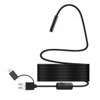 677.92 руб. 50% СКИДКА|720 P IP67 Android 8 мм, Micro USB Тип c USB 3 в 1 Электронный эндоскоп Borescope Водонепроницаемый USB Инспекции Видео Камера купить на AliExpress